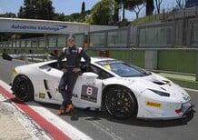 Stoner a Vallelunga con la Lamborghini Huracán Super Trofeo