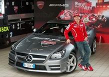 Valentino Rossi e Nicky Hayden sulla nuova SLK