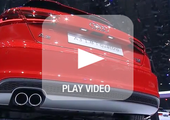 Nuova Audi A3: live dallo stand del Salone
