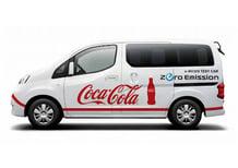 Nissan e-NV200: un van elettrico per la Coca-Cola