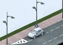 Auto elettrica: in Francia si ricarica dai lampioni