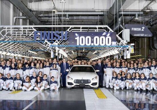 Maserati: a Grugliasco prodotte 100.000 vetture