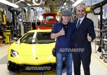 Brian Johnson ha visitato la Lamborghini e ha girato a Imola con una Gallardo