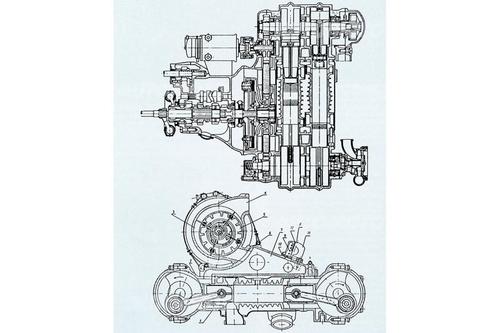 L'ultima evoluzione delle DKW sovralimentate d'anteguerra prevedeva un motore (a ciclo Otto) con architettura a pistoni opposti