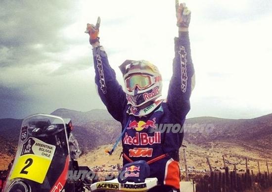 Dakar 2014. Vincono Marc Coma (KTM) e Joan Roma (Mini All4 Racing)