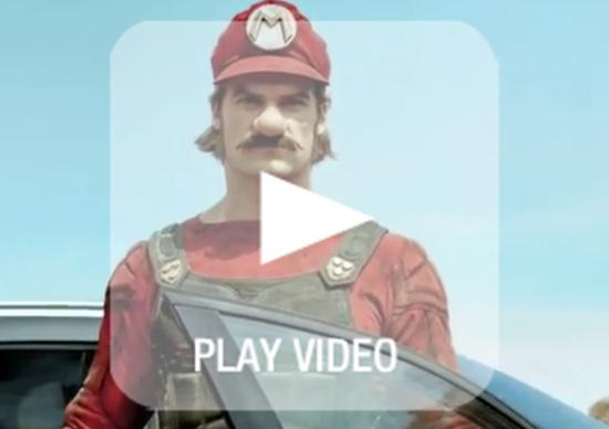 Mercedes-Benz: Super Mario per pubblicizzare la GLA