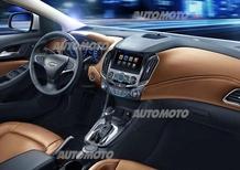 Nuova Chevrolet Cruze: svelati gli interni