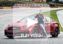 Infiniti Q50 Eau Rouge concept: al limite con Vettel sul circuito di Spa