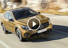 Mercedes GLA restyling, debutto al Salone di Detroit 2017 [Video]