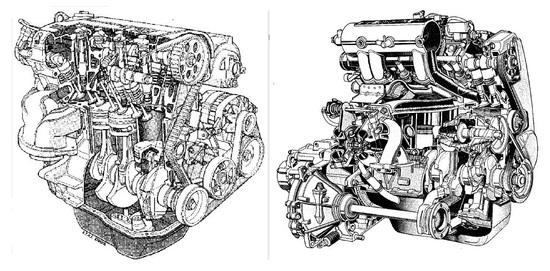 Molto noti e anche apprezzati i motori top di gamma per le due compatte anni Novanta