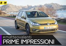 """""""Nuova"""" Volkswagen Golf restyling 2017, ecco come va e quanto è cambiata [Video primo test]"""