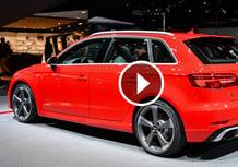 Audi RS3 Sportback restyling, la videorecensione al Salone di Ginevra 2017 [Video]