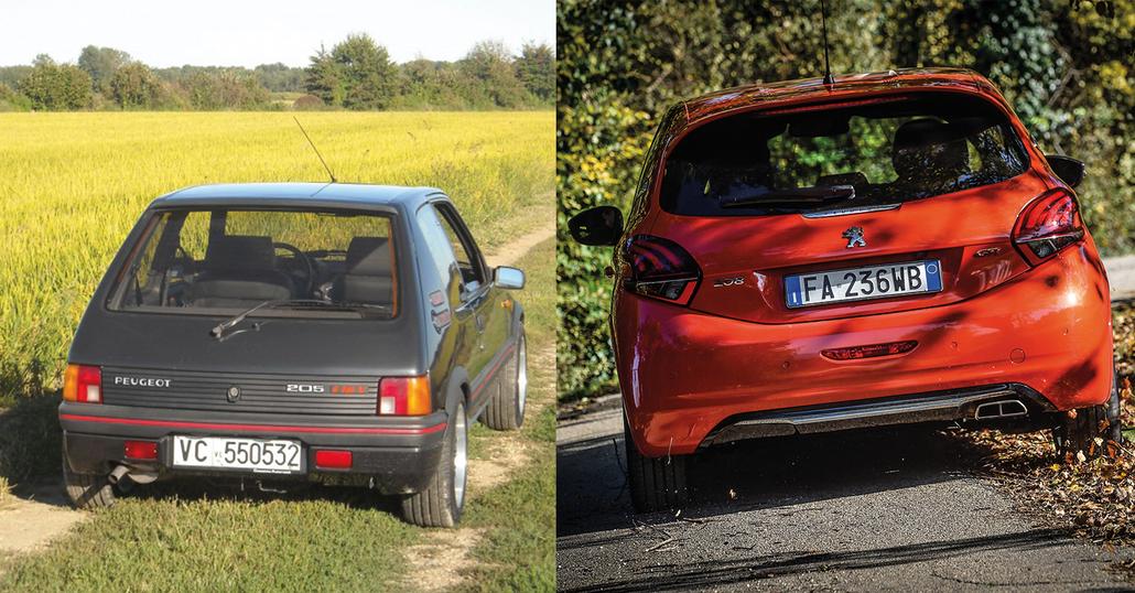 Confronto Heritage, Peugeot: 205 GTi Vs 208 GTi