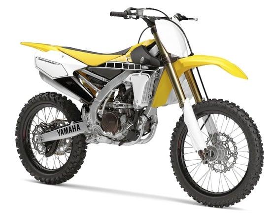 Yamaha YZ250F e 450 60th Anniversary Edition in gara
