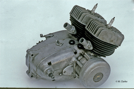 Il bicilindrico di 110 cm3 realizzato da Gonella nel 1965 era dotato di due gruppi testa/cilindro e di due alberi a gomito Franco Morini. Per l'accensione si impiegava il ruttore di un Gilera 300